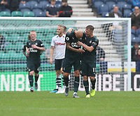 Newcastle United's Jonjo Shelvey celebrates scoring the opening goal with team-mate Matt Ritchie<br /> <br /> <br /> Photographer Stephen White/CameraSport<br /> <br /> Football Pre-Season Friendly - Preston North End v Newcastle United - Saturday July 27th 2019 - Deepdale Stadium - Preston<br /> <br /> World Copyright © 2019 CameraSport. All rights reserved. 43 Linden Ave. Countesthorpe. Leicester. England. LE8 5PG - Tel: +44 (0) 116 277 4147 - admin@camerasport.com - www.camerasport.com