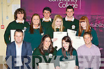 Young Entreprenours honoured at the Killorglin Community College awards on Thursday evening l-r: Jerry Clifford, Merissa Foley, Abbie Miller, Gavin Quinlan. Back row: Gary Naughton, Adele O'Shea, Andrew Henry, Keri O'Connor, Jamie Cronin and Courtney Griffin..