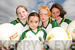 TOP PLAYERS: Footballers from Currow  enjoying the Kerry GAA/VHI Cul Camp in Currow on Friday last.. L/r. Gillian Hanafin, Amy Galway, Ellen Daly and Fay Conway..