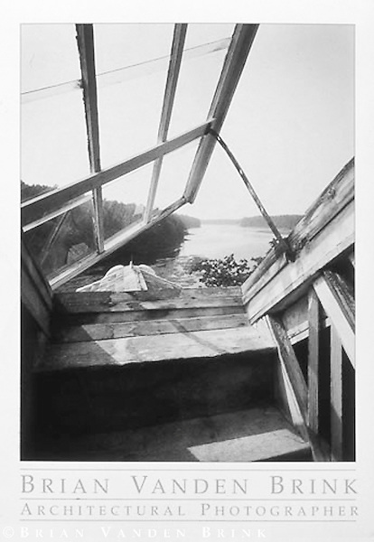 FROM THE ATTIC WINDOW<br /> Hamilton House<br /> South Berwick, Maine<br /> Built 1780, &copy; Brian Vanden Brink, 1994