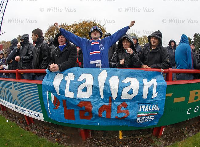 RAngers fans at Glebe Park