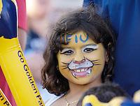 Florida International University Golden Panthers (0-5, 0-2) football versus Arkansas State University Indians (2-2, 1-0) at Miami, Florida on Saturday, September 30, 2006.  The Indians defeated the Golden Panthers 31-6...A fan shows her youthful spirit.