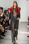 Model walks runway in an outfit from the Pamella Roland Fall Winter 2017 collection on February 10, 2017, at Pier59 Studios, during New York Fashion Week: Women's Fall Winter 2017.