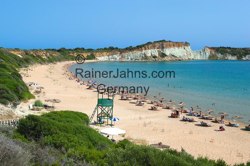 Greece, Ionian Islands, Zakynthos, Vassilikos (Vasilikos): Gerakas Beach   Griechenland, Ionische Inseln, Zakynthos, Vassilikos (Vasilikos): Gerakas Beach