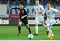 Jungo Fujimoto (JPN), Thorarinn Ingi Valdimarsson (ISL),.FEBRUARY 24, 2012 - Football / Soccer :.Kirin Challenge Cup 2012 match between Japan 3-1 Iceland at Nagai Stadium in Osaka, Japan. (Photo by Takamoto Tokuhara/AFLO)