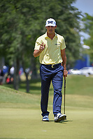 Billy Horschel (USA) sinks his putt on 1 during Round 2 of the Zurich Classic of New Orl, TPC Louisiana, Avondale, Louisiana, USA. 4/27/2018.<br /> Picture: Golffile | Ken Murray<br /> <br /> <br /> All photo usage must carry mandatory copyright credit (&copy; Golffile | Ken Murray)