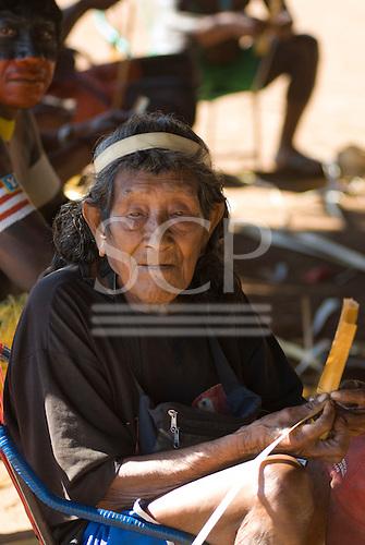 Pará State, Brazil. Aldeia Kokraimoro (Kayapo). Barawy (Manoel) Pagé Kayapo.