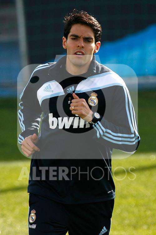 Madrid (11/03/10).-Entrenamiento del Real Madrid..Kaka...© Alex Cid-Fuentes/ ALFAQUI..Madrid (11/03/10).-Training session of Real Madrid c.f..Kaka...© Alex Cid-Fuentes/ ALFAQUI.