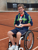 August 6, 2014, Netherlands, Rotterdam, TV Victoria, Tennis, National Junior Championships, NJK,  Wheelchair, 4th place Sam Schröder (NED) <br /> Photo: Tennisimages/Henk Koster