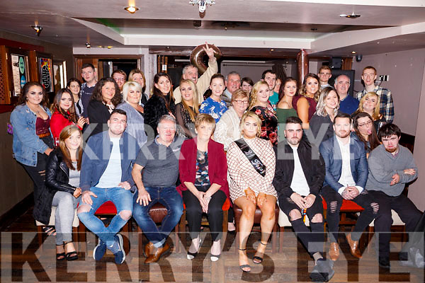 Shauna Moriarthy seated front centre celebrates her 21st birthday with her family and friend in the Abbey Inn on saturday night last.
