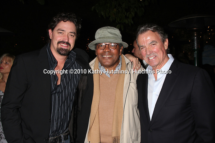 Christian Gudegast, Clarence Williams III, Eric Braeden.at the Eric Braeden's 30th Anniversary on The Young & The Restless Cocktail Reception .Pane e Vino Resturant.Los Angeles, CA.February 3, 2010.©2010 Kathy Hutchins / Hutchins Photo..Publicist & Braeden Approved....