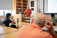 Parent Michael Litt P'19 P'22 sits in on a class.<br />