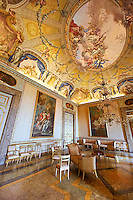 The audience room of the Queen. The Kings of Naples Royal Palace of Caserta, Italy. A UNESCO World Heritage Site