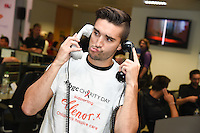 Tom Parker<br /> on the trading floor for the BGC Charity Day 2016, Canary Wharf, London.<br /> <br /> <br /> &copy;Ash Knotek  D3152  12/09/2016
