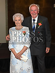 Tony and Dina Saurin celebrating their 60th wedding anniversary n the d hotel. Photo:Colin Bell/pressphotos.ie
