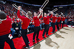Wisconsin Badgers trombone section plays during a Big Ten Conference NCAA college basketball game against the Minnesota Golden Gophers on Tuesday, February 28, 2012 in Madison, Wisconsin. The Badgers won 52-45. (Photo by David Stluka)
