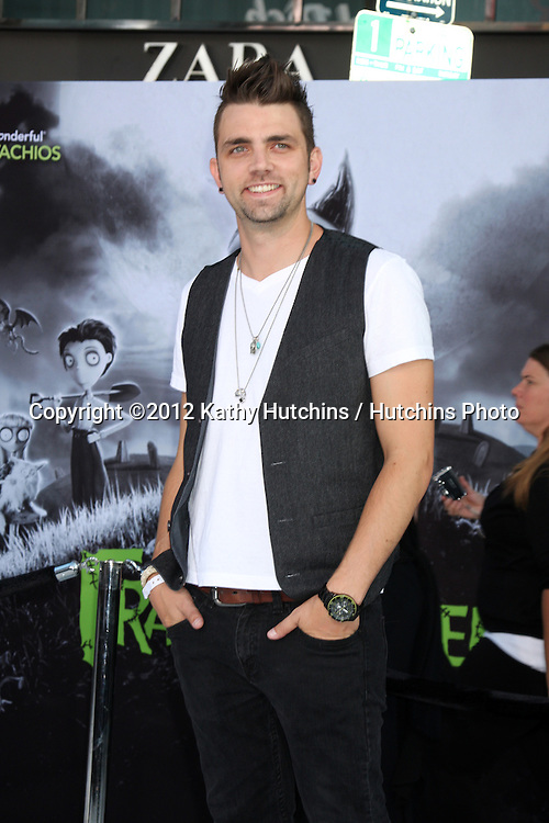"""LOS ANGELES - SEP 24:  Adam Chambers arrives at the """"Frankenweenie"""" Premiere at El Capitan Theater on September 24, 2012 in Los Angeles, CA"""