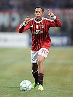 FUSSBALL   CHAMPIONS LEAGUE   SAISON 2011/2012     15.02.2012 AC Mailand - Arsenal London Robinho (AC Mailand)