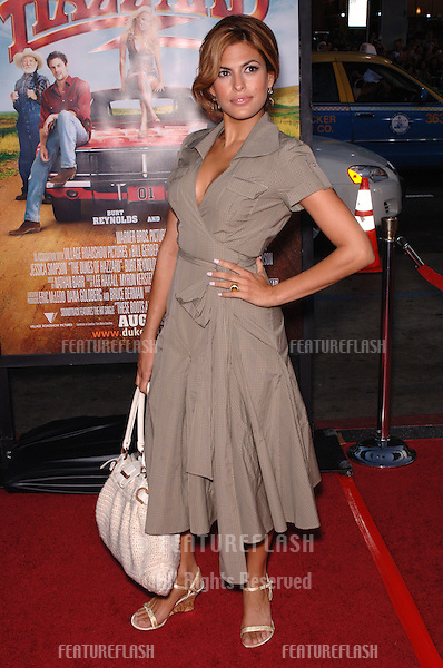Actress EVA MENDES at the Los Angeles premiere of The Dukes of Hazzard..July 28, 2005 Los Angeles, CA.© 2005 Paul Smith / Featureflash