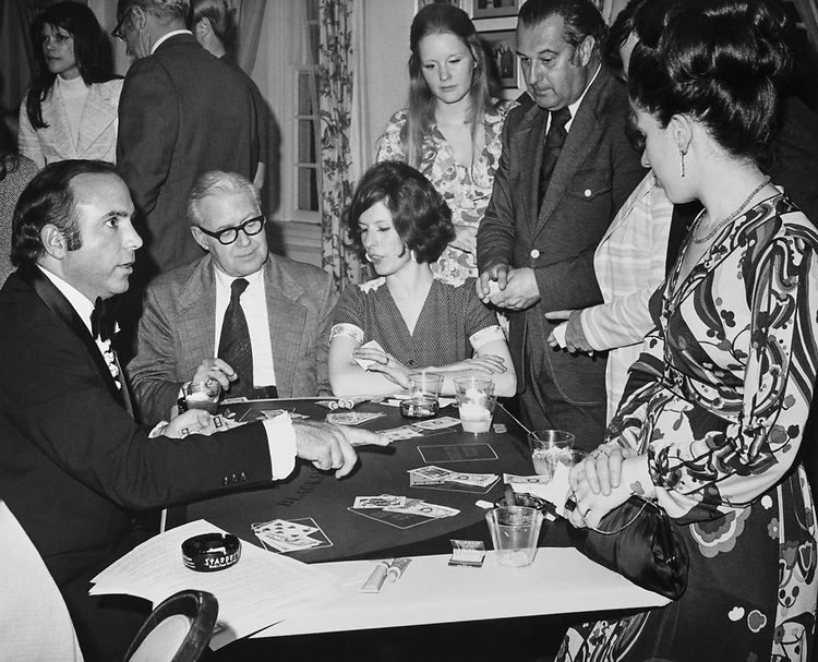 Rep. David Towell, R-Nev., dealing blackjack, he ran Las Vegas night at CIAC in 1974. (Photo by Mickey Senko/CQ Roll Call)