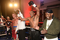 Yailton Neves (black shorts) defeats Jimmy Smith during a Boxing Show at the Camden Centre on 10th March 2018