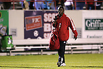 24 March 2004: Freddy Adu fills the traditonal rookie by lugging the team's equipment bag. DC United of Major League Soccer defeated the Wilmington Hammerheads of the Pro Select League 1-0 at the Legion Sports Complex in Wilmington, NC in a Carolina Challenge Cup match..