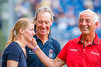 GER-Sandra Auffarth retires Opgun Louvo in a ceremony with Hans Meltzer and Christopher Bartle, during the SAP Cup - CICO4*-S Nations Cup Eventing Prizegiving. 2019 GER-CHIO Aachen Weltfest des Pferdesports. Saturday 20 July. Copyright Photo: Libby Law Photography