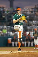 Greensboro Grasshoppers starting pitcher Trevor Rogers (26) in action against the West Virginia Power at First National Bank Field on June 1, 2018 in Greensboro, North Carolina. The Grasshoppers defeated the Power 10-3. (Brian Westerholt/Four Seam Images)