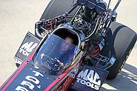 Apr 25, 2015; Baytown, TX, USA; Crew member for NHRA top fuel driver Steve Torrence during qualifying for the Spring Nationals at Royal Purple Raceway. Mandatory Credit: Mark J. Rebilas-
