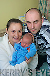 BUNDLE OF JOY FOR NEW YEAR: Baby Cian O'Connell with parents Eleanor and Karl from Rathmore.