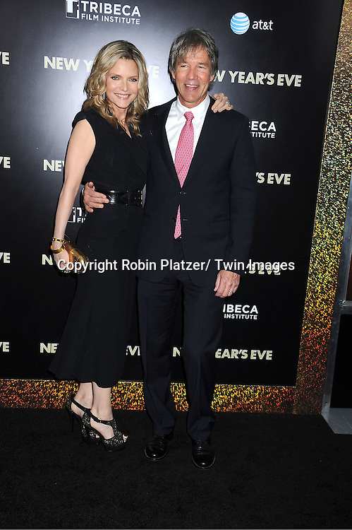 "Michelle Pfeiffer and David E Kelly attends The Special Screening of "" New Year's Eve"" on ..December 7, 2011 at The Ziegfeld Theatre in New York City. The evening is sponsored by AT & T and is benefitting The Tribeca Film Institute ."