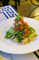 Phnom Penh, Cambodia. Dinner at Foreign Correspondents Club (FCC). Soft Shell Crab.