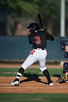 AZL D-backs Jose Curpa (3) at bat during an Arizona League game against the AZL Mariners on July 3, 2019 at Salt River Fields at Talking Stick in Scottsdale, Arizona. The AZL D-backs defeated the AZL Mariners 3-1. (Zachary Lucy/Four Seam Images)