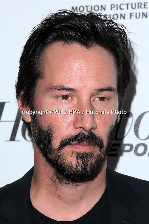 """LOS ANGELES - OCT 20:  Keanu Reeves arrives at  the """"Reel Stories, Real Lives"""" Event at Milk Studios on October 20, 2012 in Los Angeles, CA"""