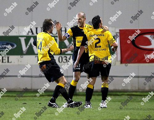 2010-03-17 / Voetbal / seizoen 2009-2010 / R. Antwerp FC - SK Lierse / Jurgen Cavens viert na de 0-1..Foto: Mpics