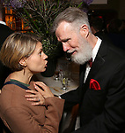 Celia Keenan-Bolger and Tom Nelis attends the Broadway Opening Night After Party for  'Indecent' at Bryant Park Grill on April 18, 2017 in New York City.