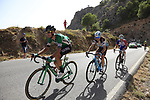 Cristian Rodriguez Martin (ESP) Caja Rural-Seguros RGA, Hubert Dupont (FRA) AG2R La Mondiale and Rudy Molard (FRA) Groupama-FDJ on the slopes of Sierra de la Alfaguara  during Stage 4 of the La Vuelta 2018, running 162km from Velez-Malaga to Alfacar, Sierra de la Alfaguara, Andalucia, Spain. 28th August 2018.<br /> Picture: Eoin Clarke | Cyclefile<br /> <br /> <br /> All photos usage must carry mandatory copyright credit (&copy; Cyclefile | Eoin Clarke)