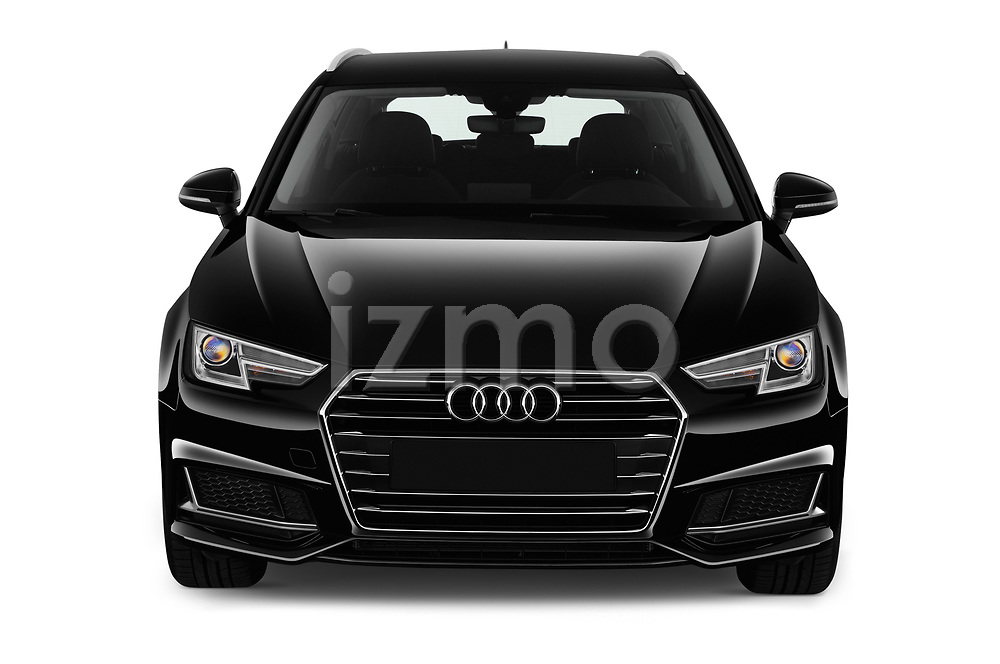 Car photography straight front view of a 2019 Audi A4-Avant Design 5 Door Wagon
