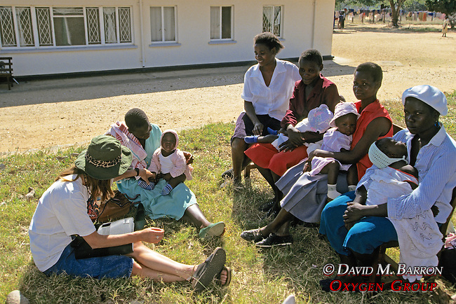 Talking With Local Women With Babies