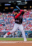 28 April 2017: Washington Nationals outfielder Bryce Harper at bat against the New York Mets at Nationals Park in Washington, DC. The Mets defeated the Nationals 7-5 to take the first game of their 3-game weekend series. Mandatory Credit: Ed Wolfstein Photo *** RAW (NEF) Image File Available ***