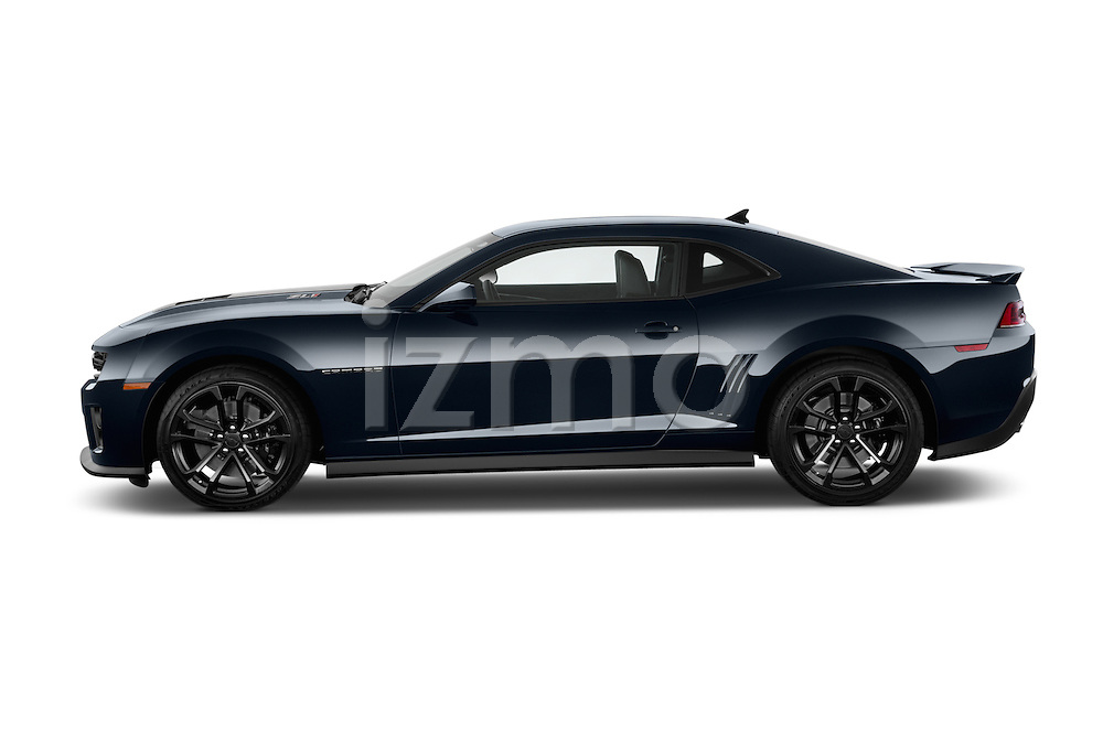 Car Driver side profile view of a 2015 Chevrolet Camaro ZL1 Coupe 2 Door  Side View
