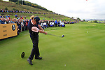 Miguel Angel Jiminez tees off on the 16th tee during Practice Day 3 of the The 2010 Ryder Cup at the Celtic Manor, Newport, Wales, 29th September 2010..(Picture Eoin Clarke/www.golffile.ie)