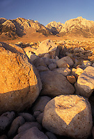 AJ3808, Mt. Whitney, Sierra Nevada Mountains, Lone Pine, California, Mount Whitney from Alabama Hills in the Eastern Sierra in Lone Pine in the state of California.