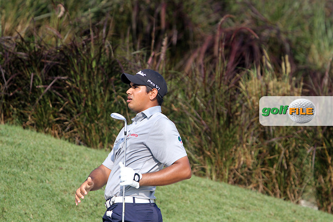 Gaganjeet Bhullar (IND) on the 18th during the Resumed Round 1 of the 2013 Maybank Malaysian Open, Kuala Lumpur Golf and Country Club, Kuala Lumpur, Malaysia 22/3/13...(Photo Jenny Matthews/www.golffile.ie)