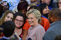 MIAMI, FL - OCTOBER 11: Democratic presidential nominee former Secretary of State Hillary Clinton greets people after a campaign rally with former Vice President Al Gore at the Miami Dade College - Kendall Campus, Theodore Gibson Center on October 11, 2016 in Miami, Florida. Credit: MPI10 / MediaPunch