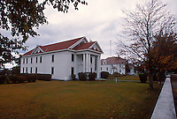 The Keweenaw County Courthouse and grounds in Eagle River, Mich. in fall.