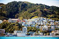 Wellington City Landmarks: St Gerard's Monastery and Mt Victoria townhouses, Wellington, New Zealand on Tuesday, 20 October 2015. Photo: Dave Lintott / lintottphoto.co.nz