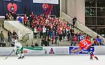 V&auml;ster&aring;s 2015-02-01 Bandy Elitserien V&auml;ster&aring;s SK  - Edsbyns IF :  <br /> Vy &ouml;ver ABB Arena med Edsbyns supportrar p&aring; l&auml;ktaren under matchen mellan V&auml;ster&aring;s SK  och Edsbyns IF <br /> (Foto: Kenta J&ouml;nsson) Nyckelord:  Bandy Elitserien ABB Arena Syd V&auml;ster&aring;s SK VSK Edsbyn EIF Byn inomhus interi&ouml;r interior supporter fans publik supporters