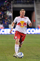 Jan Gunnar Solli (8) of the New York Red Bulls. The New York Red Bulls defeated the Seattle Sounders 1-0 during a Major League Soccer (MLS) match at Red Bull Arena in Harrison, NJ, on March 19, 2011.