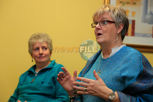 Eimear Dolphin and Ann O'Reilly at the poetry reading in the Boyne Valley Hotel<br /> Picture: Fran Caffrey www.newsfile.ie